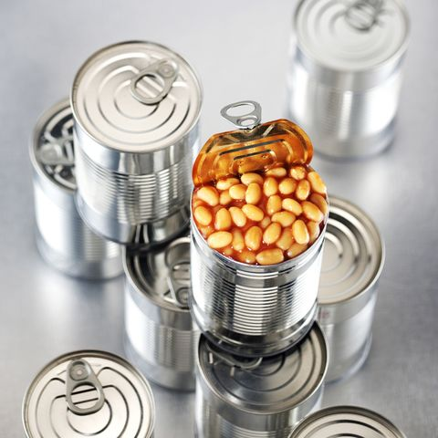 Open tin of baked beans