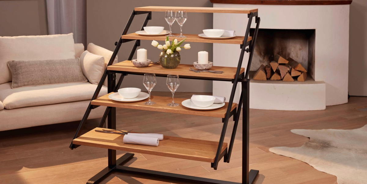 Convertible Shelf Transforms Into A Dining Table This Transforming Dining Table Is Perfect For