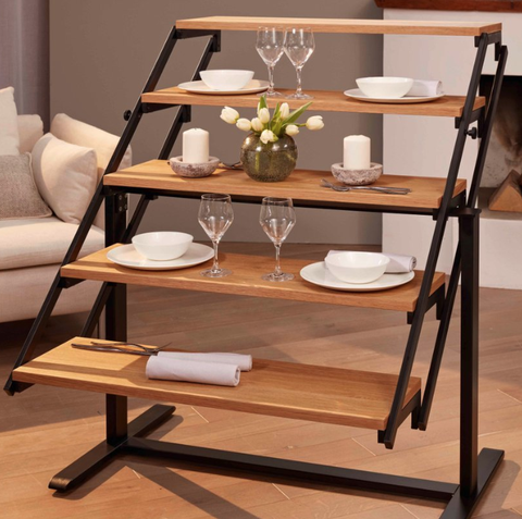 Convertible Shelf Transforms Into A Dining Table This Transforming Is Perfect For Small Spaces