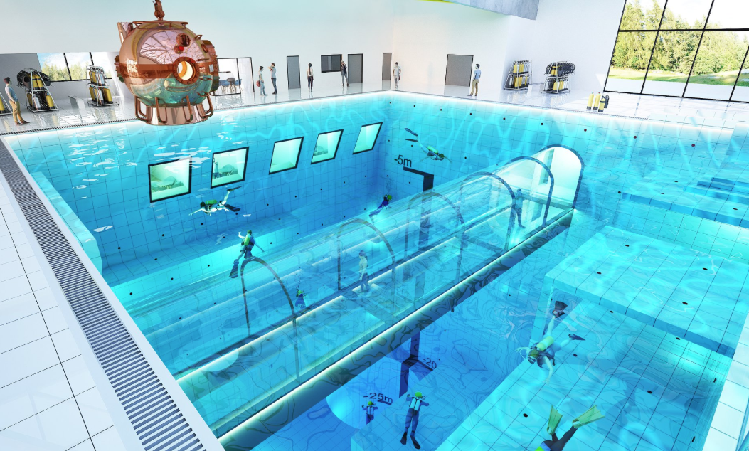 Deepspot In Poland Will Be The World S Deepest Pool At 148 Feet