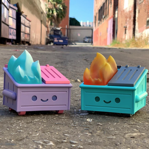 Dumpster Fire toy from 100% Soft is what you need to destress at your desk.