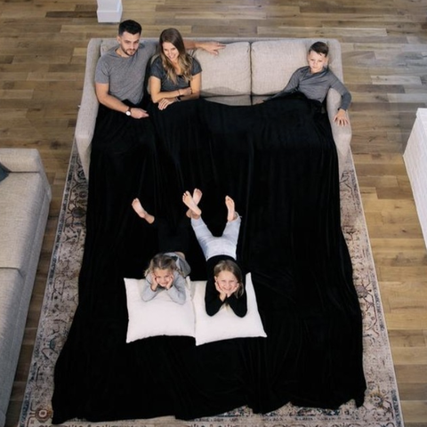 This may be the biggest blanket ever, measuring a whopping 10-by-10 feet!