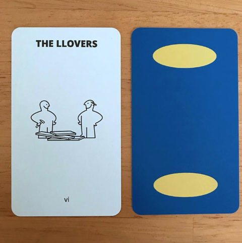 Tarot cards reinterpreted with IKEA icons.