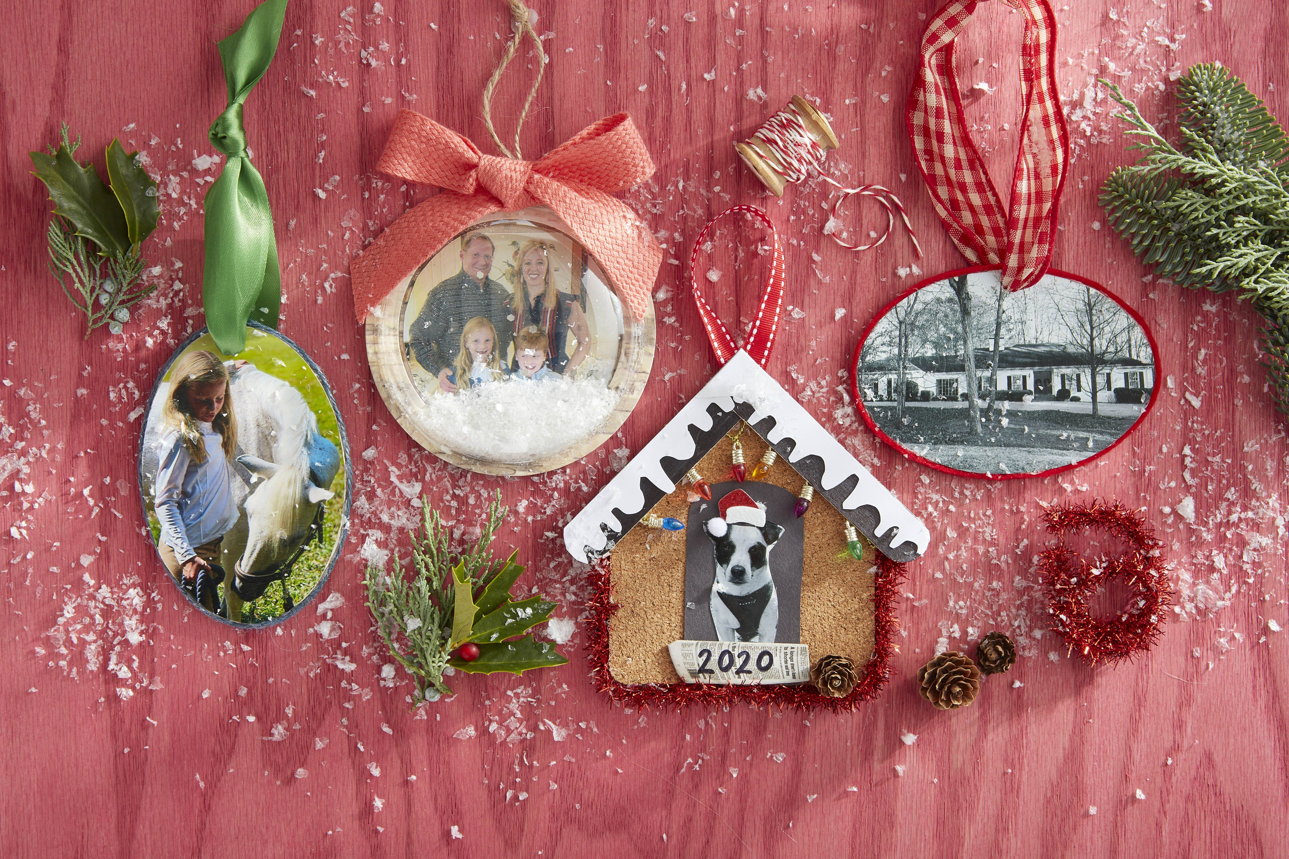 Diy Photo Ornaments Easy Photo Christmas Ornaments