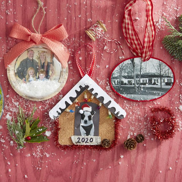christmas ornaments made with photographs