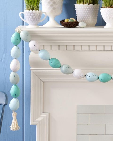 speckled egg garland