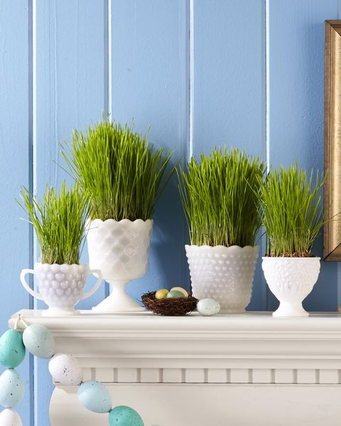 easter grass display