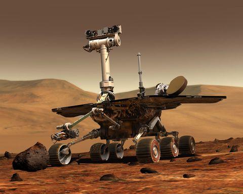 Landscape, Desert, Space, Vehicle, Aeolian landform, Spacecraft,