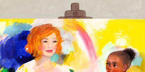 Painting, Watercolor paint, Child art, Art, Visual arts, Painter, Illustration, Palette, Paint, Modern art,