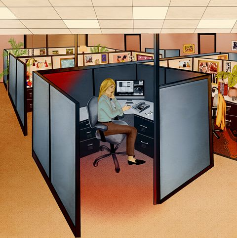 Furniture, Desk, Office, Computer desk, Table, Room, Interior design, Building, Material property, Office chair,