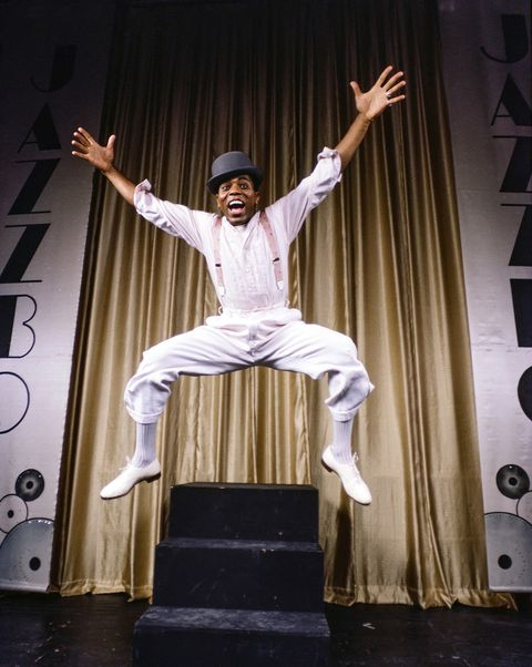 american actor, performer, and choreographer andre deshields in performance of 'jazzbo brown,' new york, new york, 1980 photo by brownie harriscorbis via getty images