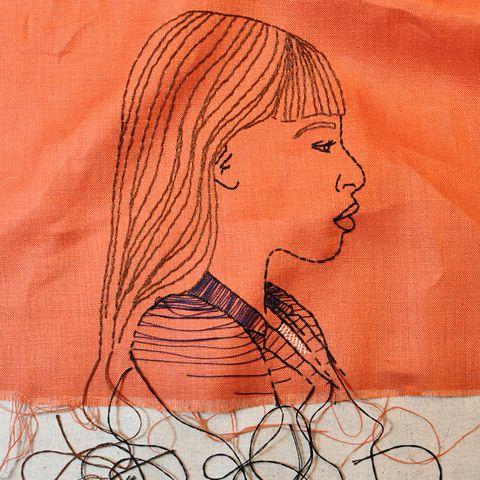 Face, Drawing, Sketch, Illustration, Child art, Cheek, Head, Art, Line art, Chin,