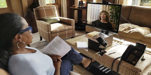 Oprah interviewing Tina Turner for November 2018 O Issue