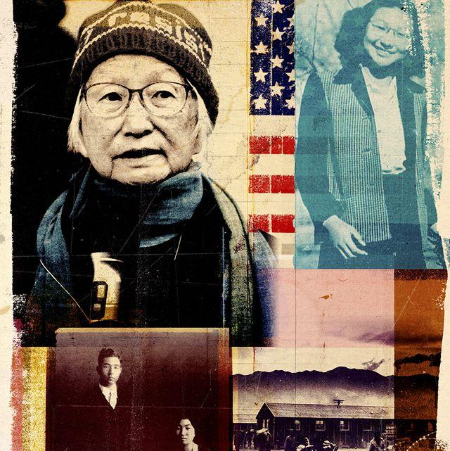 chizu omori japanese detainment camp survivor collage