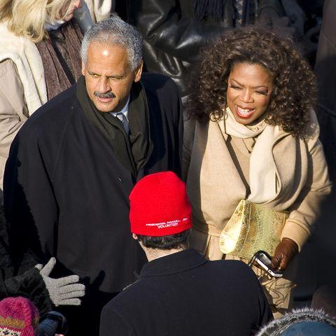 usa   presidential inauguration   oprah winfrey and stedman graham at inauguration