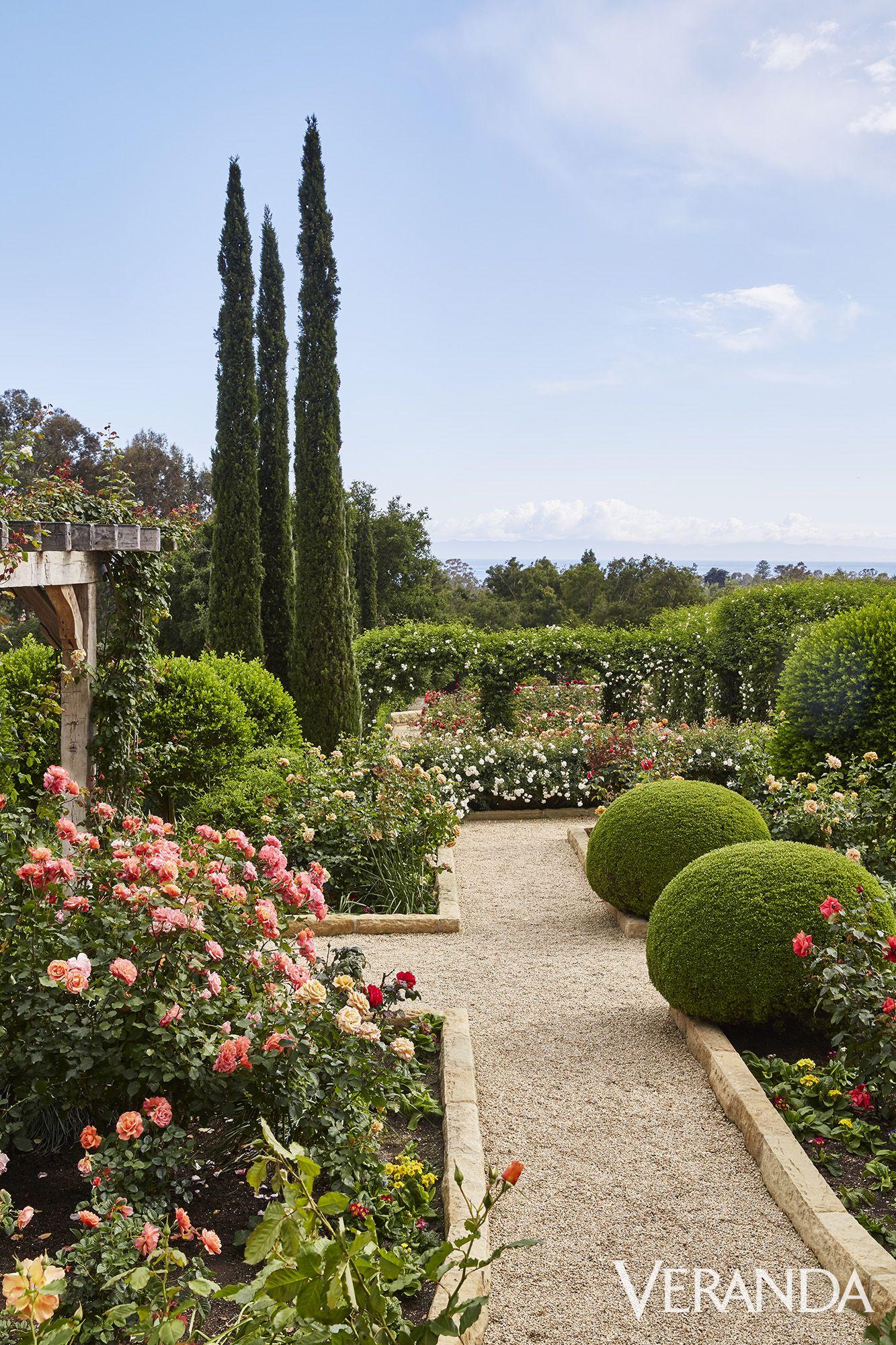 Step Inside Oprah Winfrey's Outdoor Sanctuary, The Rose Garden At Her Montecito Home