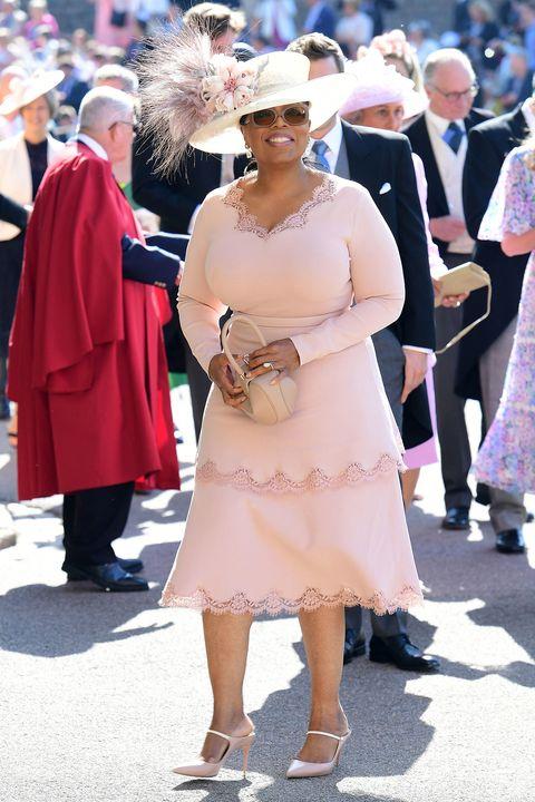 Oprah Winfrey Wears A Pink Stella Mccartney Dress At The Royal Wedding