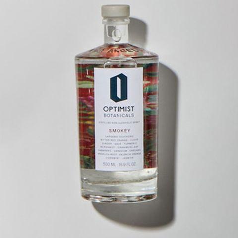 smokey distilled non alcoholic spirit,  optimist botanicals