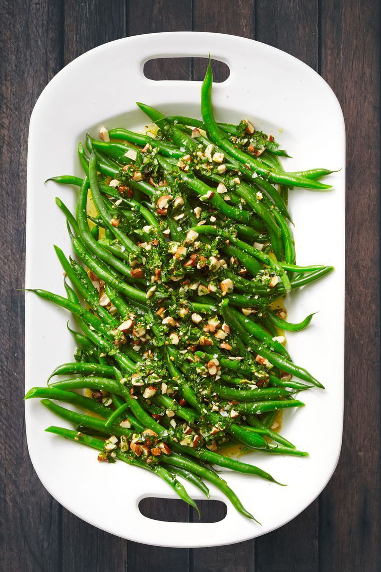 Green Beans with Orange and Almond Gremolata
