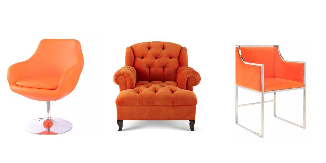 Futuristic Orange Accent Chair Design