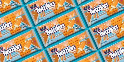 Twizzlers Filled Orange Cream Pop Twists Chewy Candy
