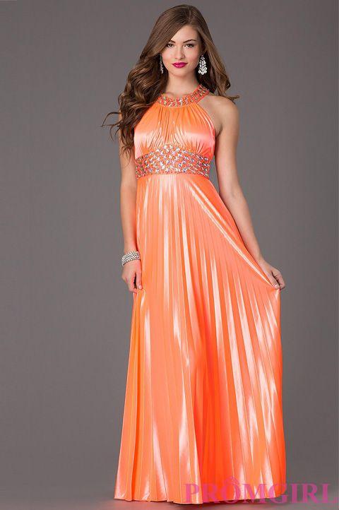 Orange Metallic Dresses