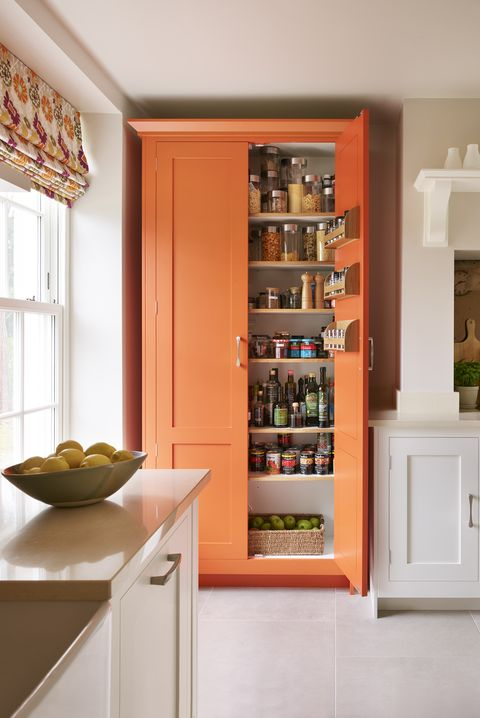 orange kitchen larder   harvey jones