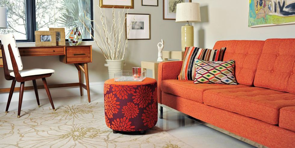 32 Best Orange Sofas Orange Couches And Orange Leather Sofas