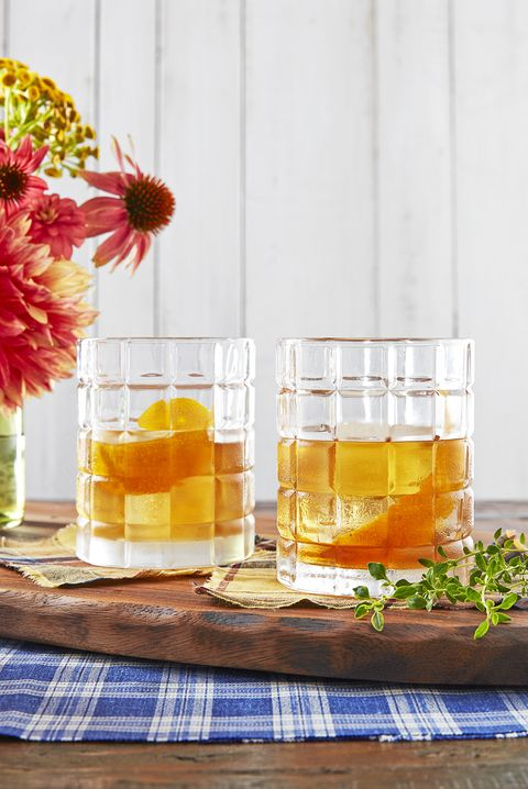 orange thyme old fashioned cocktail recipe