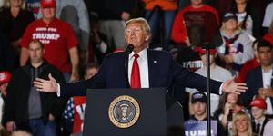 President Trump Holds Campaign Rally In Wildwood, New Jersey