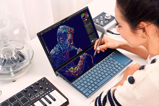 el ordenador portátil zenbook duo ux481, de asus