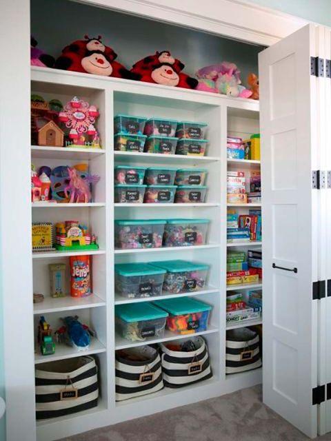 13 ideas para ordenar los juguetes de los peques for Juego de organizar casa