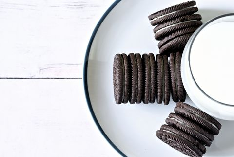 Oreo, Cookies and crackers, Snack, Cookie, Food, Snack cake, Finger food, Baked goods, Chocolate, Dessert,
