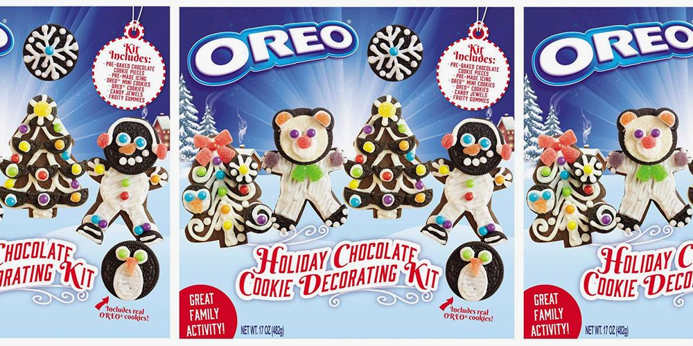 This Oreo Holiday Cookie-Decorating Kit Is a Christmas Treat and Craft All in One