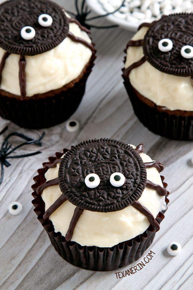 oreo spider halloween cupcake