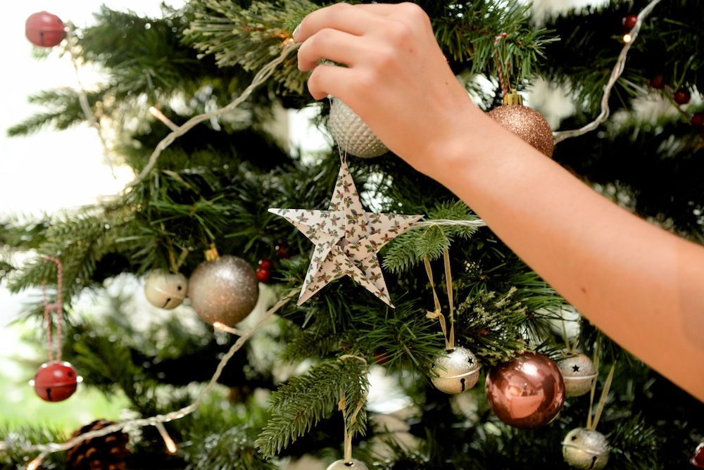 Origami Christmas stars photo