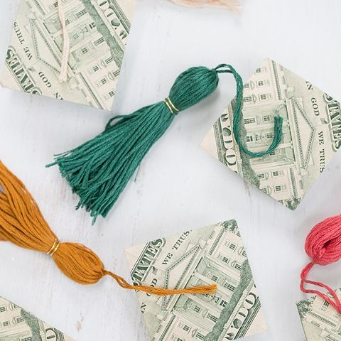 Origami Money Caps - Graduation Party Ideas