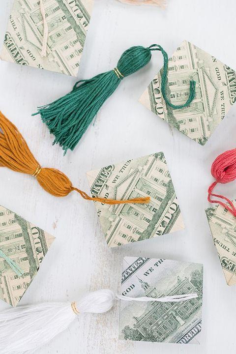 Origami Money Caps - Graduation Party Ideas