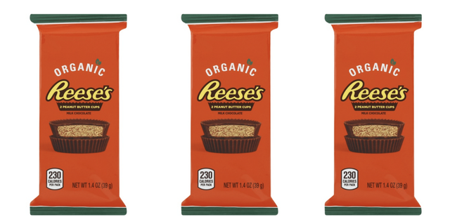 hershey's reese's peanut butter cups organic