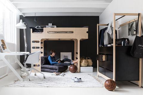 organización en un dormitorio adolescente