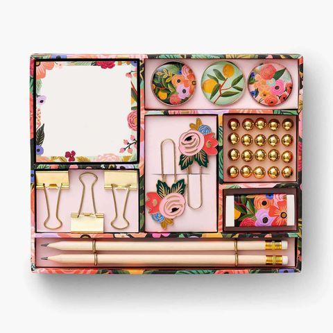 organizador de escritorio floral