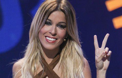 Oriana Marzoli sonríe en el plató de Gran Hermano