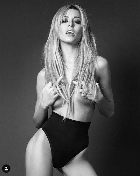 White, Fashion model, Clothing, Model, Photo shoot, Beauty, Blond, Black-and-white, Lip, Leg,