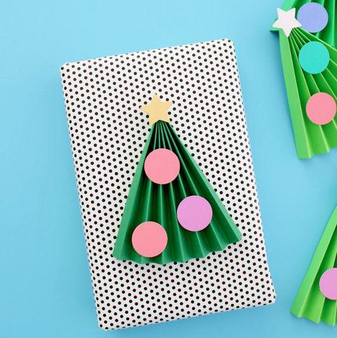 christmas origami   accordion christmas trees