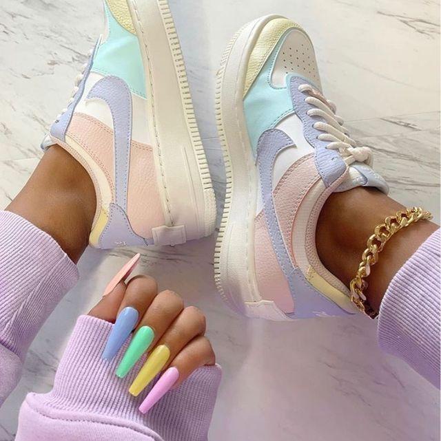 zapatillas nike colores pastel