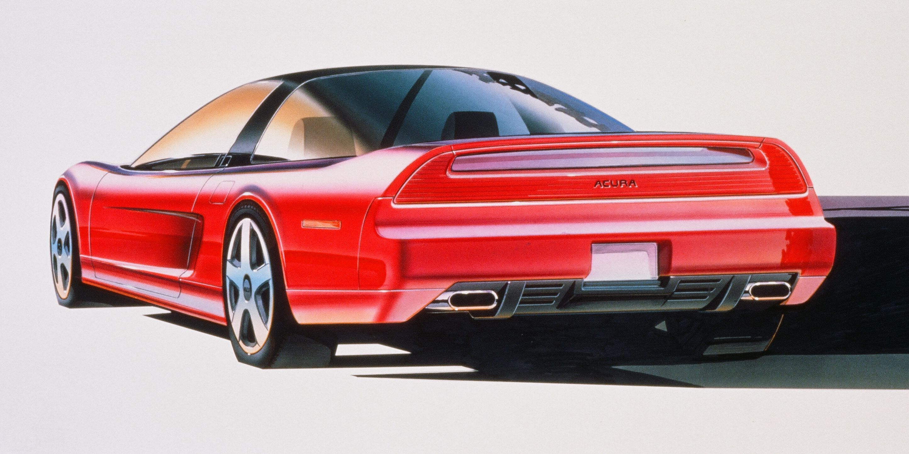 Check Out These Excellent Acura Nsx Concept Drawings Roadandtrack