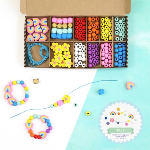 Personalised Rainbow Colours Bracelet Making Kit
