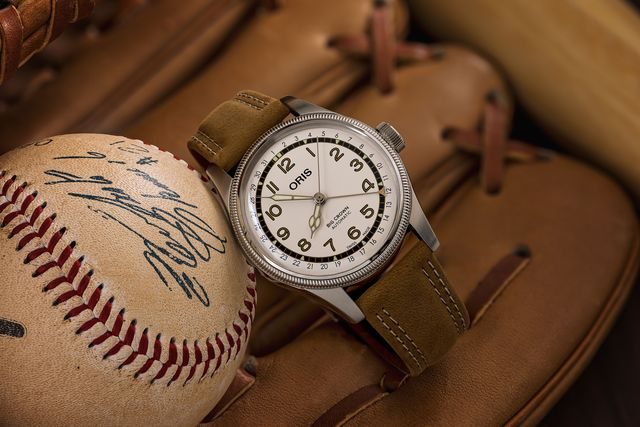 oris big crown pointer date baseball
