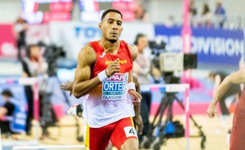 Orlando Ortega durante su competición en los Europeos de Glasgow, donde terminó 4º