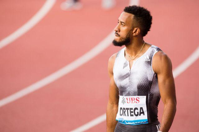 el atleta español orlando ortega tras correr en lausana